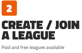 create or join a league
